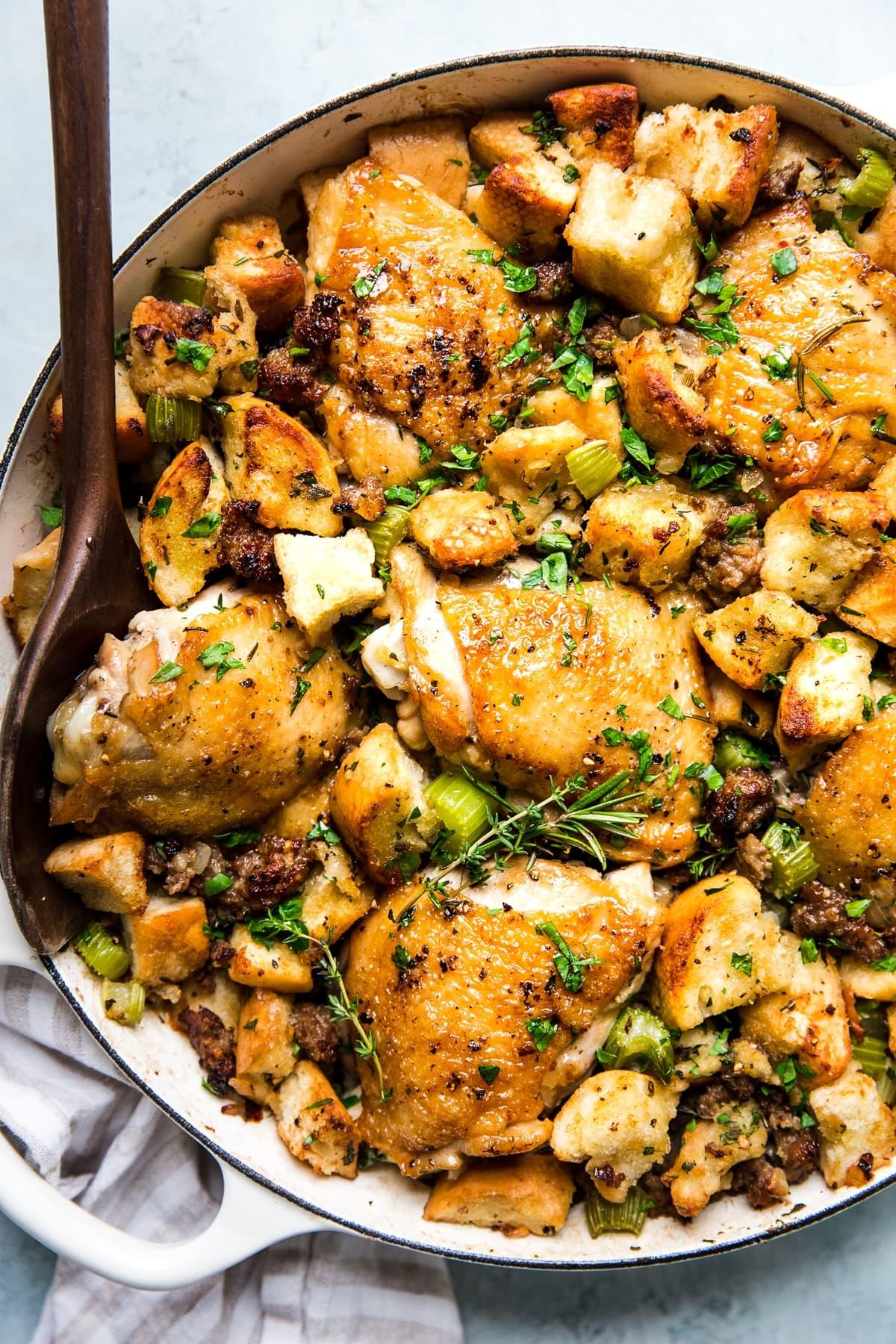 One Pot Chicken Stuffing Casserole The Modern Proper