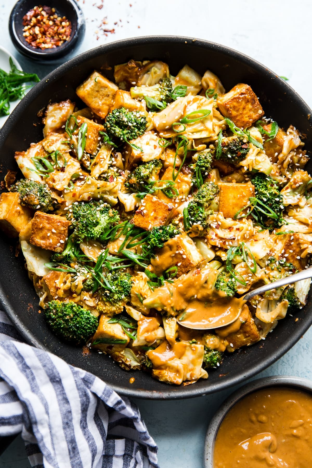 Tofu Stir Fry With Vegetables And Peanut Sauce The Modern Proper