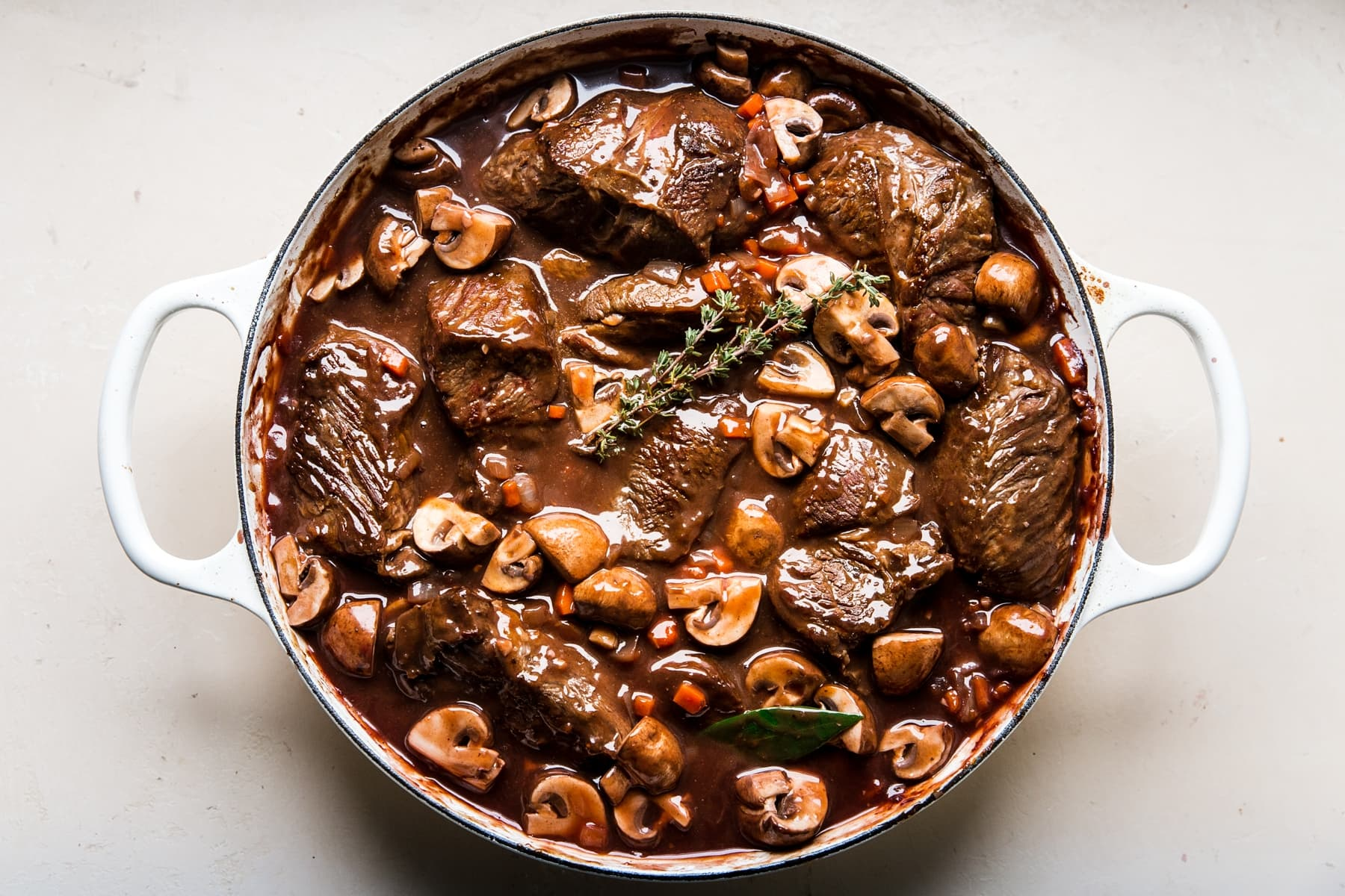 Wine Braised Beef With Mushrooms The Modern Proper
