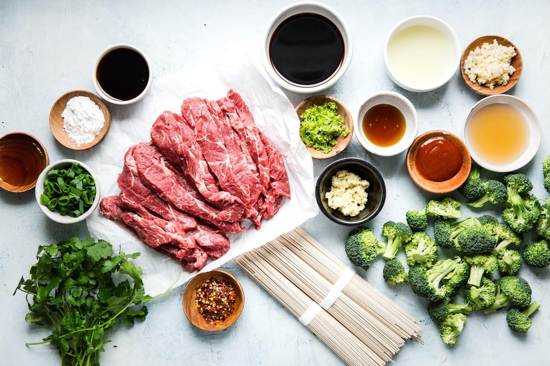 Broccoli Beef Soba Bowl The Modern Proper