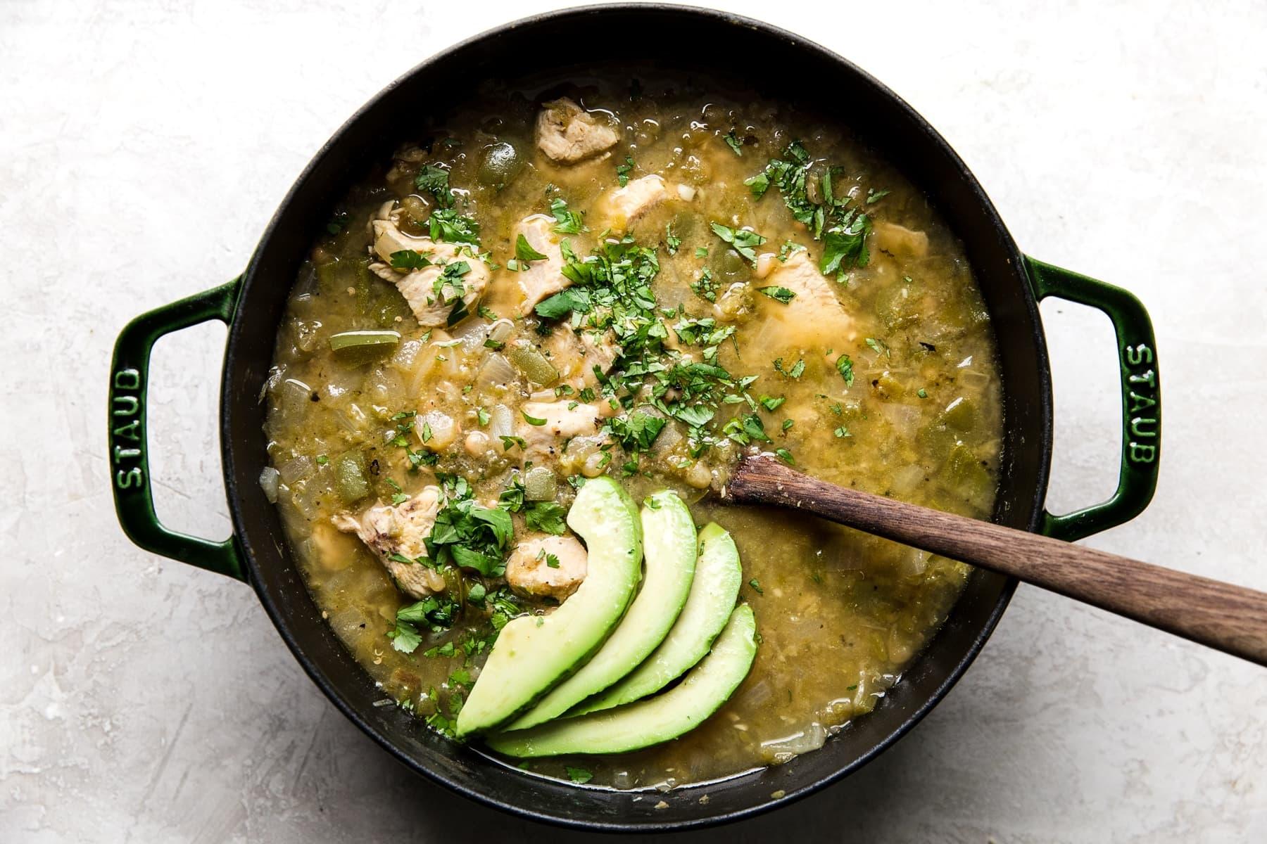 Green Chicken Chili Soup The Modern Proper