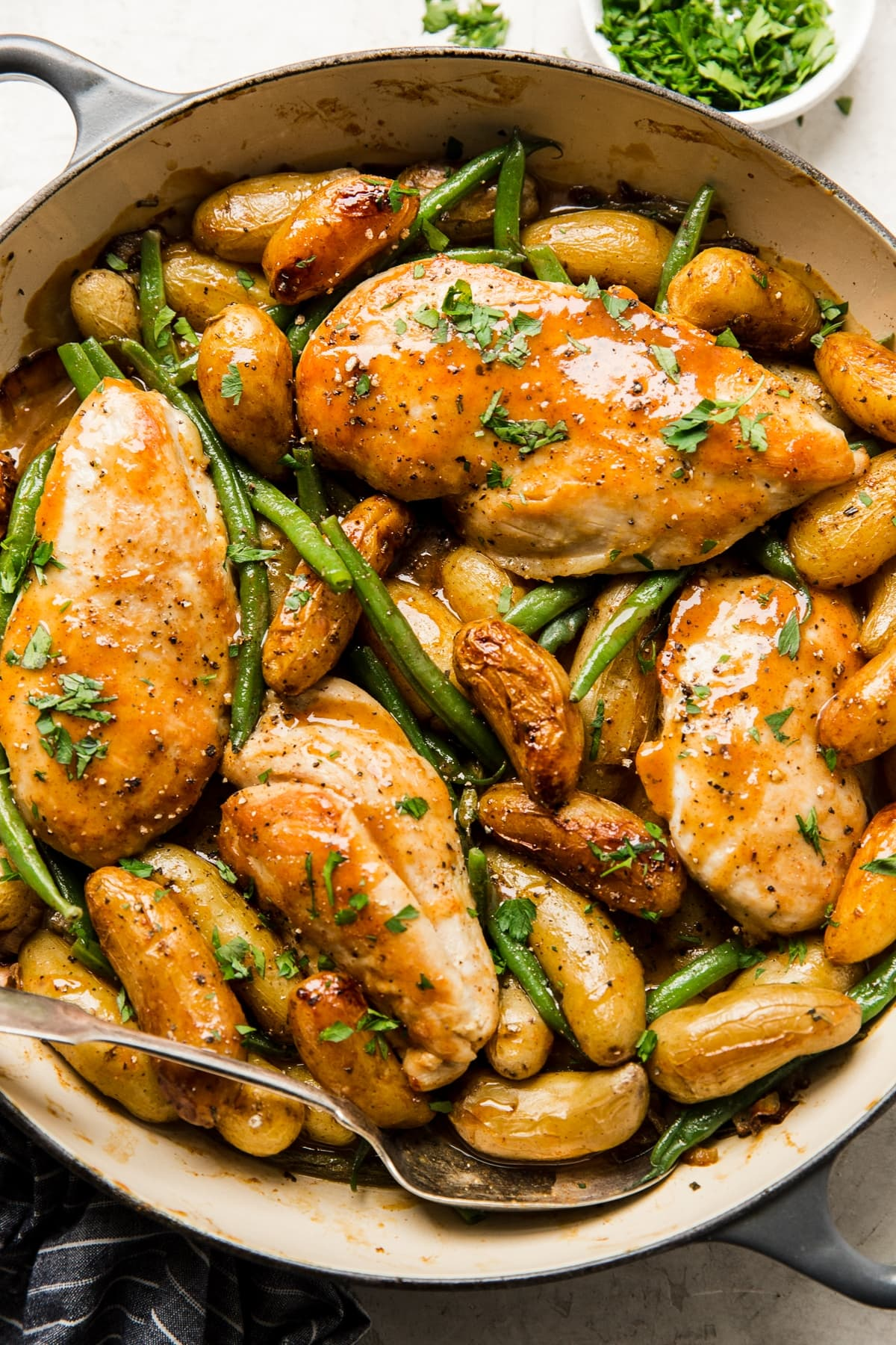 One Pan Honey Mustard Chicken And Vegetables The Modern Proper