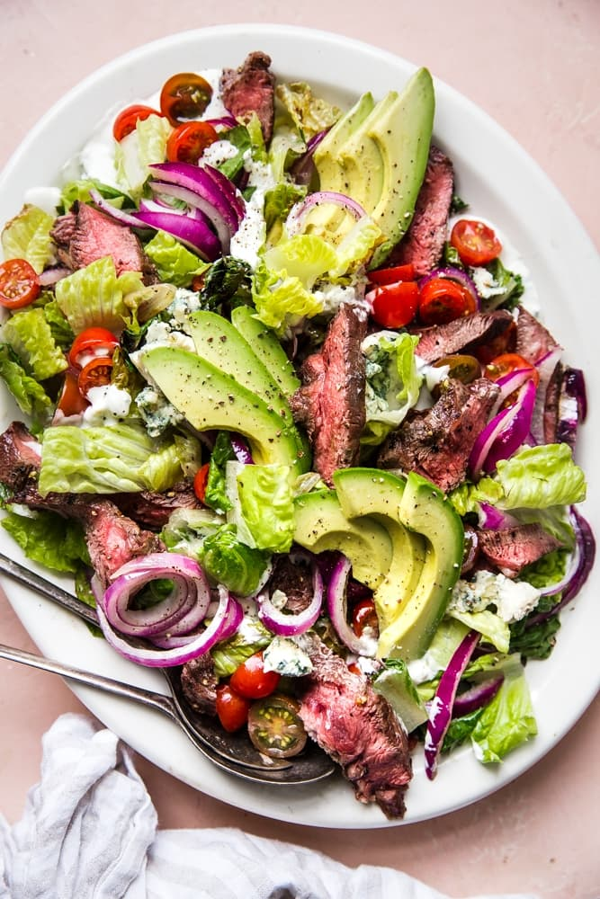 Grilled Steak Salad With Blue Cheese Dressing The Modern Proper
